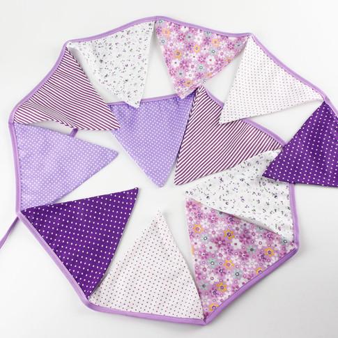 Purple Fabric Bunting
