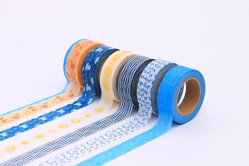 50 Sets of Washi Tapes - Summer Seaside