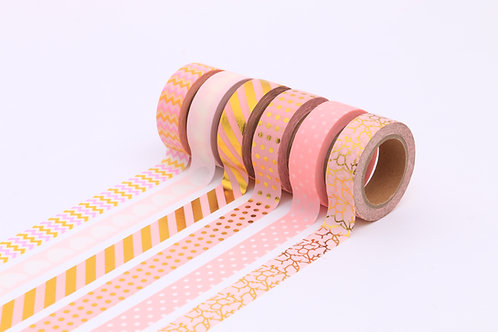50 Sets of Washi Tapes - Pink