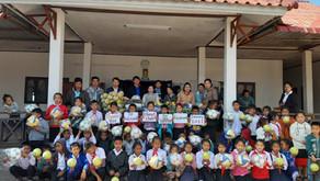 Rotoractors Fund Sport Equipment for 27 schools in Laos