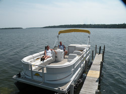 AD mike and melony on PONTOON
