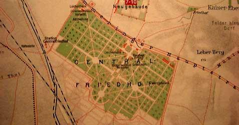 Lageplan dess Wiener Zentralfriedhof