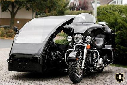 Motorradbestattung Beiwagen