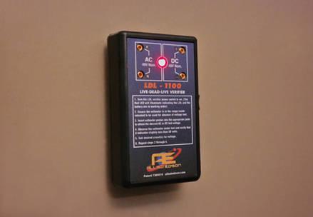 LDL-1100 Verifier on Metal Door