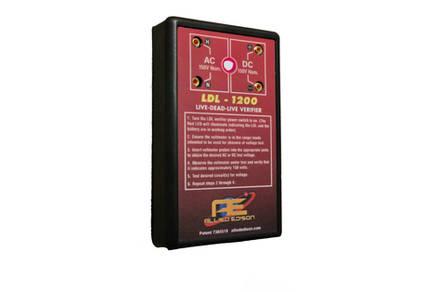 LDL-1100 Live-Dead-Live Verifier Front Light On