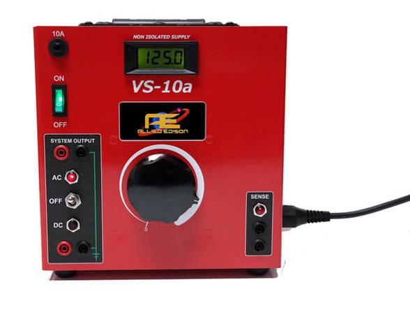 A VS-10a power supply front connections with  power cord.
