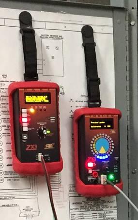 ZX3 Equipment w/ Magnetic Strap attatched to Metal Door