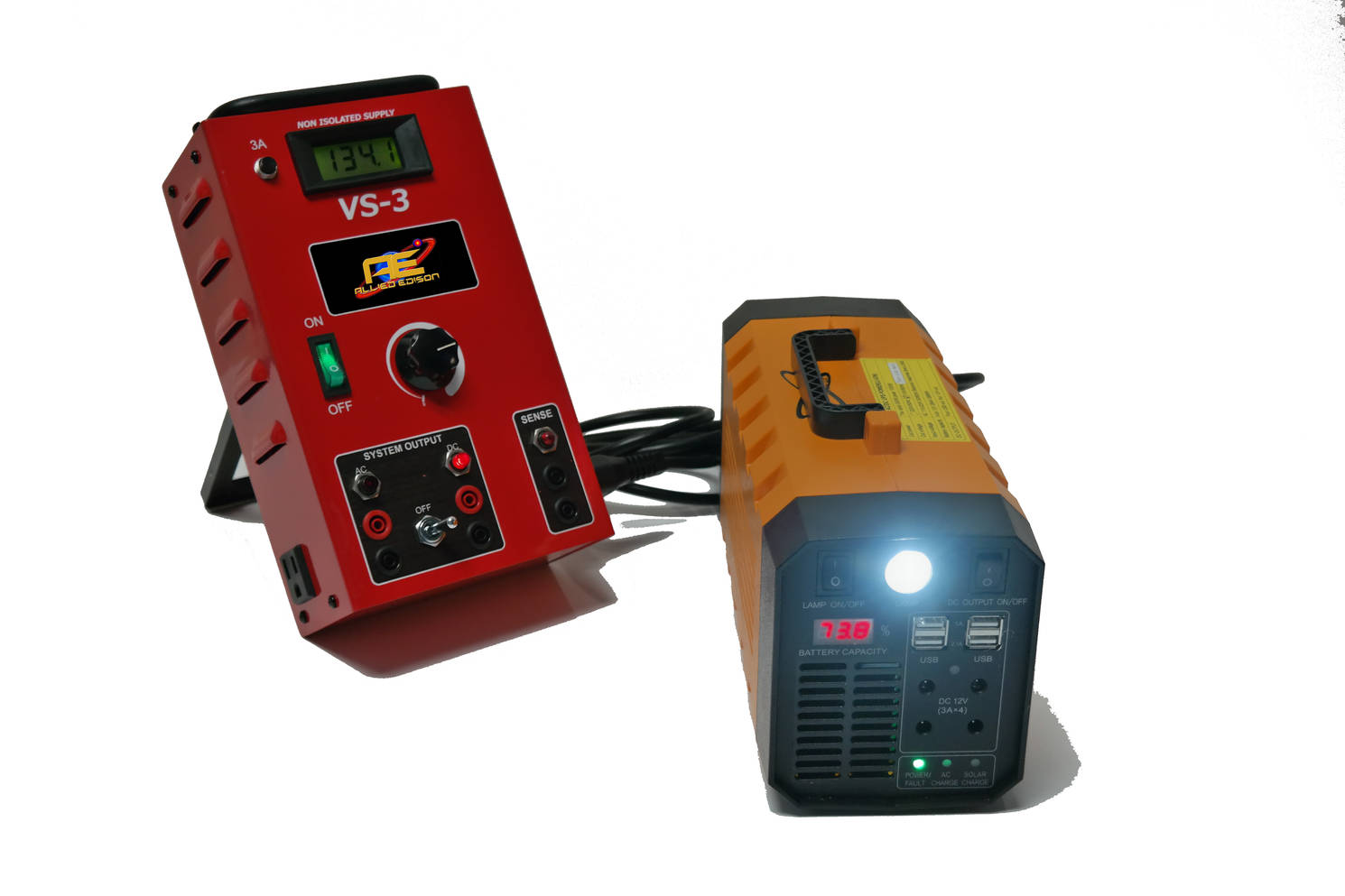 Allied Edison VS-3 power supply powered by the UPS power supply