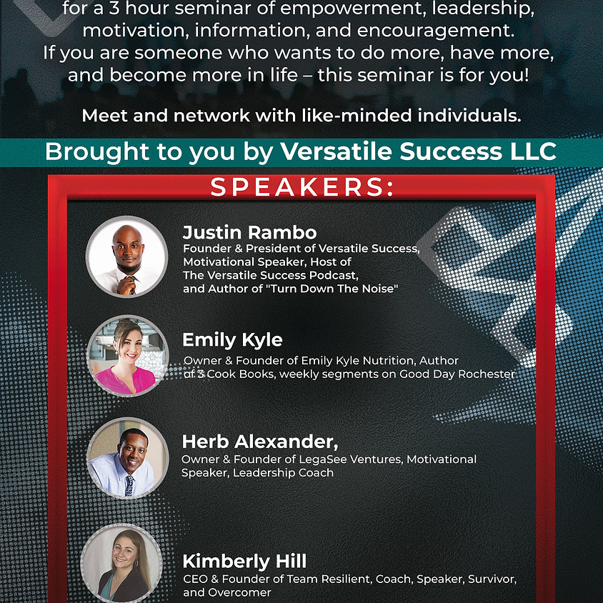 Strive to Thrive Seminar - Rochester, NY  (H)