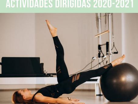 Actividades dirigidas Septiembre de 2020- Junio 2021