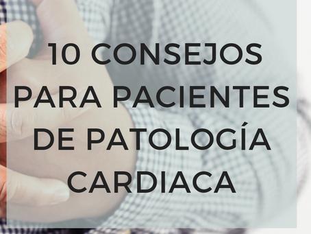 10 consejos para pacientes con patología cardiovascular