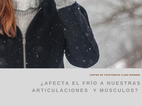 ¿Afecta el frío a nuestros músculos  y articulaciones?