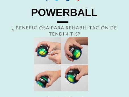 ¿Es útil emplear la powerball en rehabilitación de problemas tendinosos de codo y de muñeca?