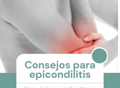 Consejos para tratamiento de epicondilitis