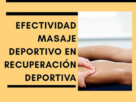 Efectividad del masaje frente a la crioterapia en recuperación deportiva