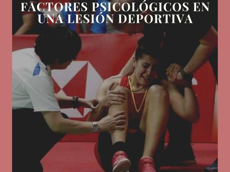 ¿Qué factores psicológicos son más importantes en una lesión deportiva?