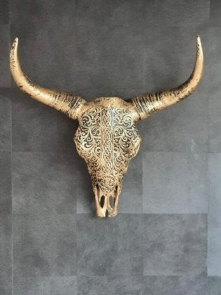 Buffel Schedel Goud Zwart
