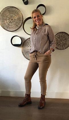 Oversized blouse met kraag en plissé
