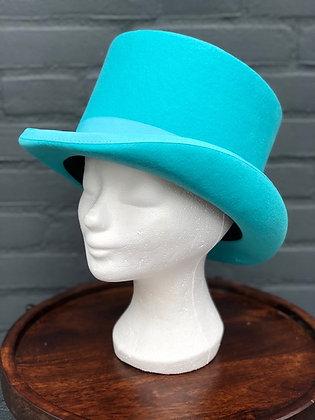 Hoge Hoed Turquoise
