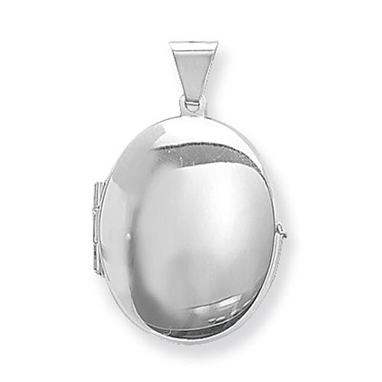 Silver Plain Oval Locket