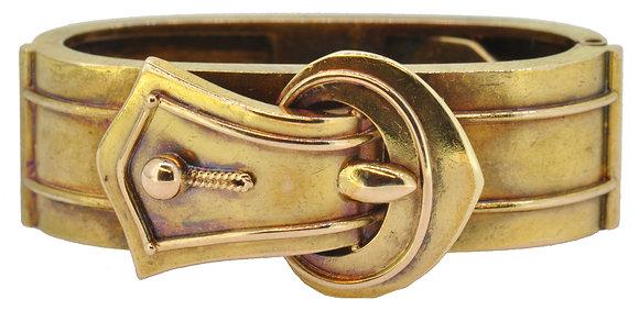 Antique Gold Cravat Clip Front View