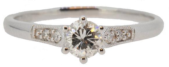 Platinum 0.40ct Diamond Ring