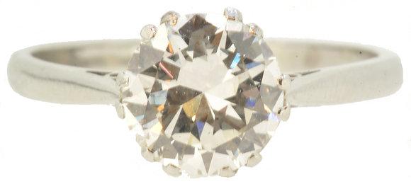 Platinum 1.68ct Diamond Ring Front View