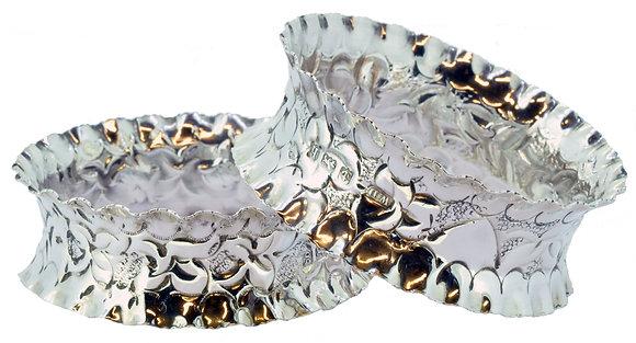 Silver Ornate Napkin Rings