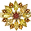 9ct yellow gold citrine cluster ring front view