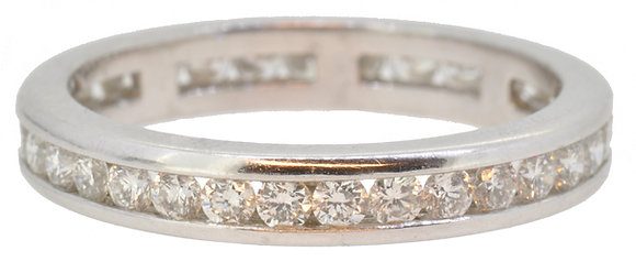 Platinum 1.18ct diamond full eternity ring front view