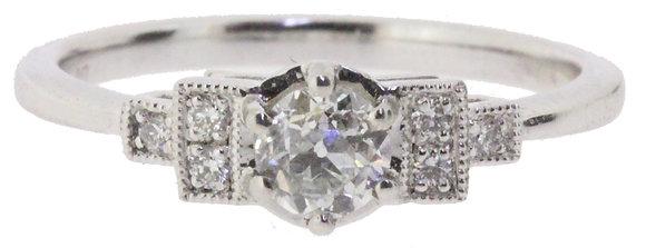 Platinum 0.38ct Diamond Ring