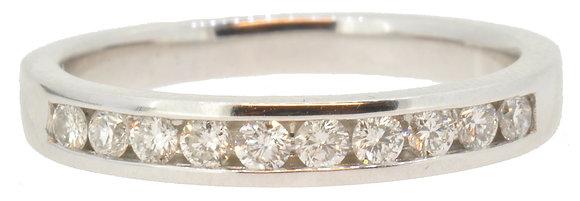 Platinum Diamond Half Eternity Ring Front View