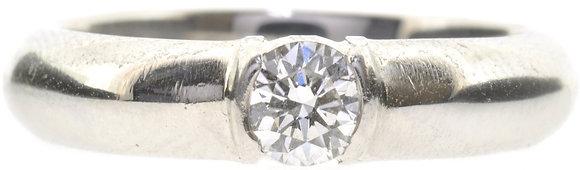 platinum 0.26ct diamond ring front view
