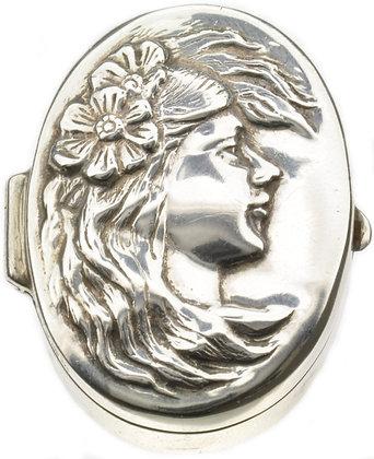 Silver Cameo Trinket Box