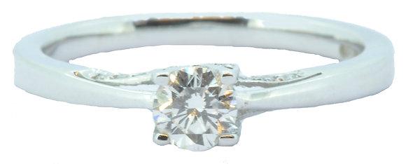 18ct White Gold Single Stone Diamond Ring