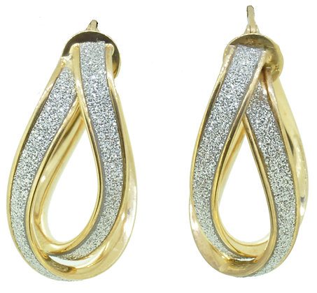 9ct Yellow Gold Sparkle Earrings