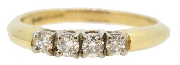 18ct Yellow Gold 0.30ct Diamond Ring