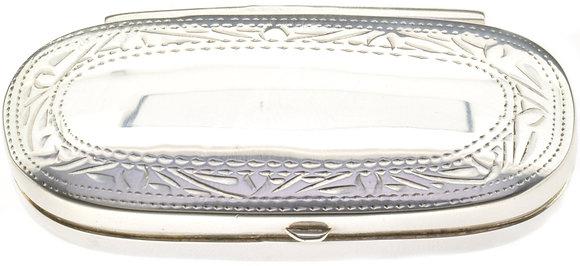 Silver Long Oval Box