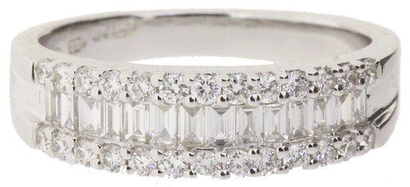 18ct white gold 0.62ct diamond ring front view