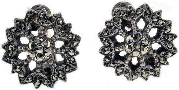 Vintage Silver Marcasite Earrings