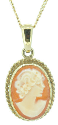 9ct yellow gold cameo pendant