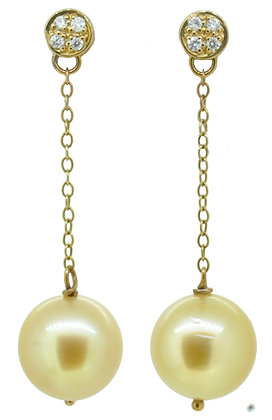 9ct Yellow Gold South Sea Pearl Earrings