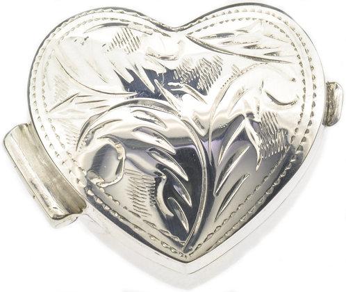Silver Heart Box