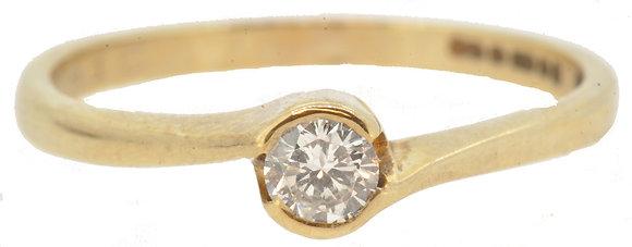 9ct Yellow Gold 0.15ct Diamond Ring