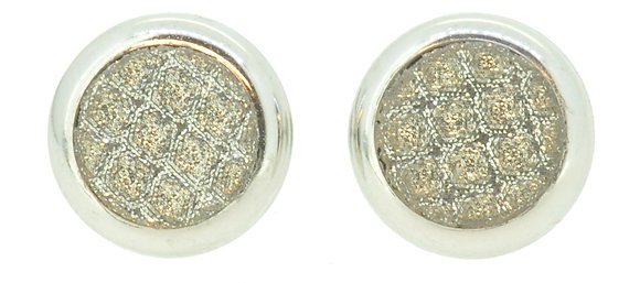 9ct White Gold CZ Cluster Stud Earrings