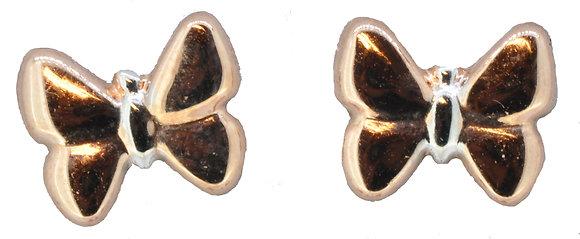9ct rose gold butterfly stud earrings
