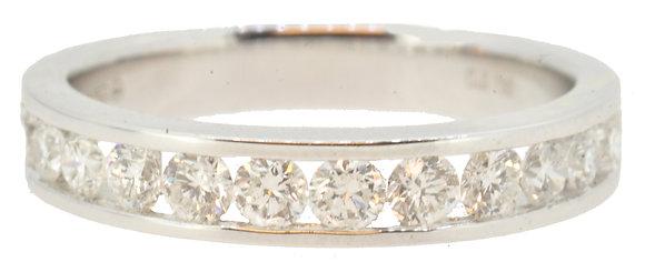 White Gold Diamond Half Eternity Ring Front View