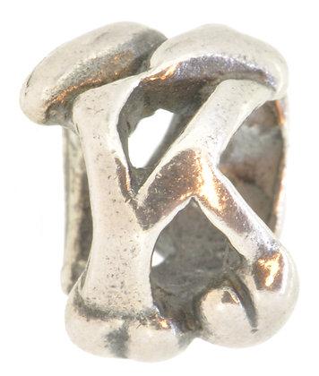 Silver Trollbeads Letter K