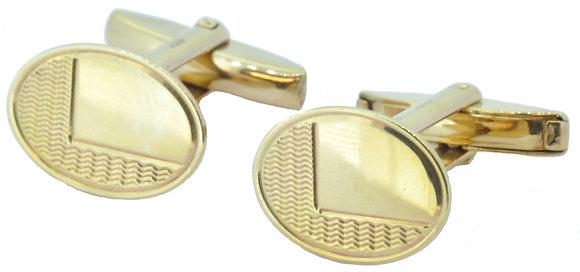 Yellow Gold Oval Cufflinks