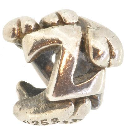 Silver Trollbeads Letter Z